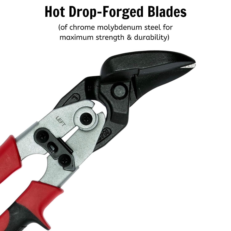Teng Tools Aviation Tin Snips Offset//Left Cut Regular Tin Cutting Shears 494