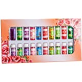 A Pack Of 24 Fragrance Oils Aromatic Perfume Oils in 12 Various Scents 5ML Each Bottle