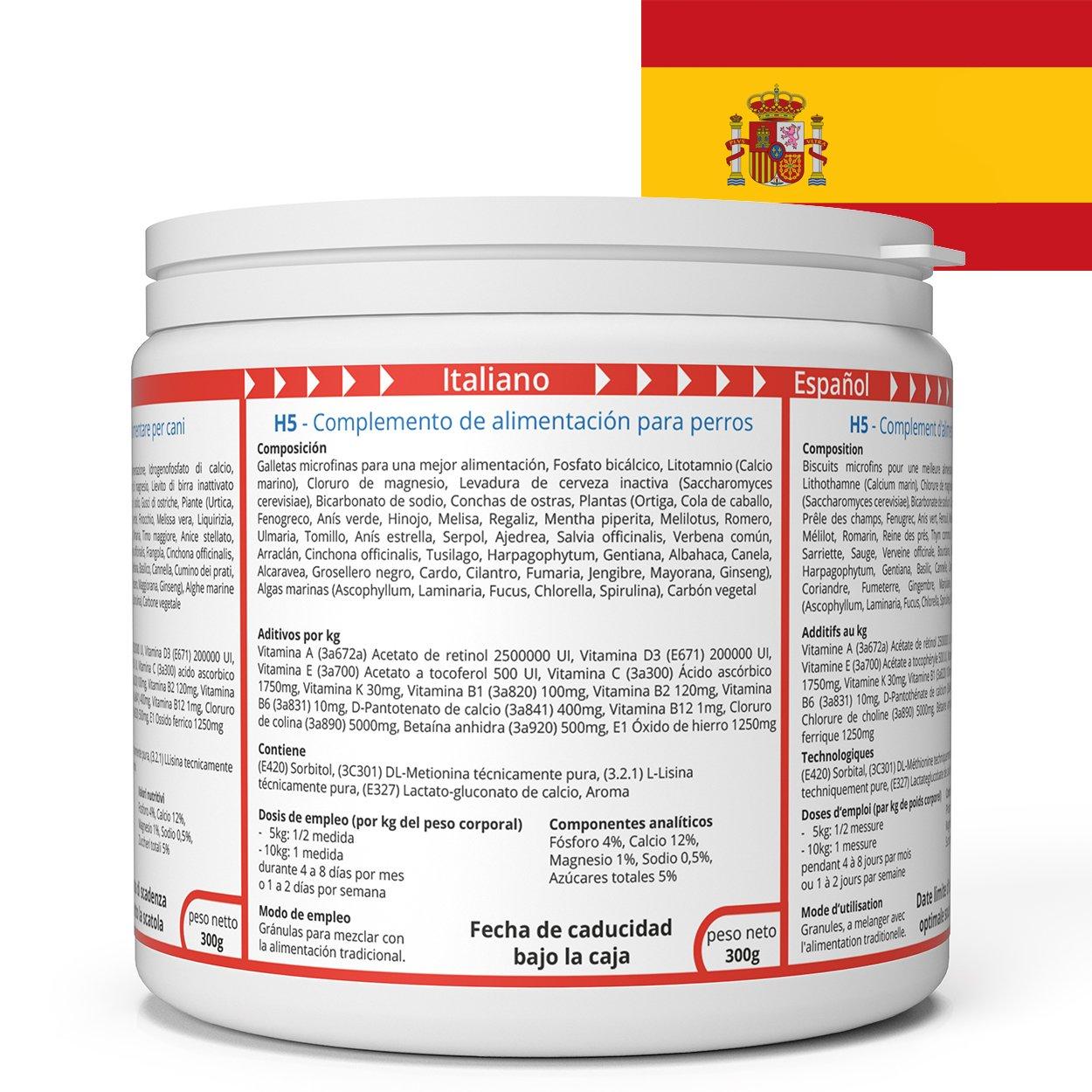 ww7 H5 Fórmula Natural para Vigor, músculos & tranporte de Perros -300g: Amazon.es: Productos para mascotas