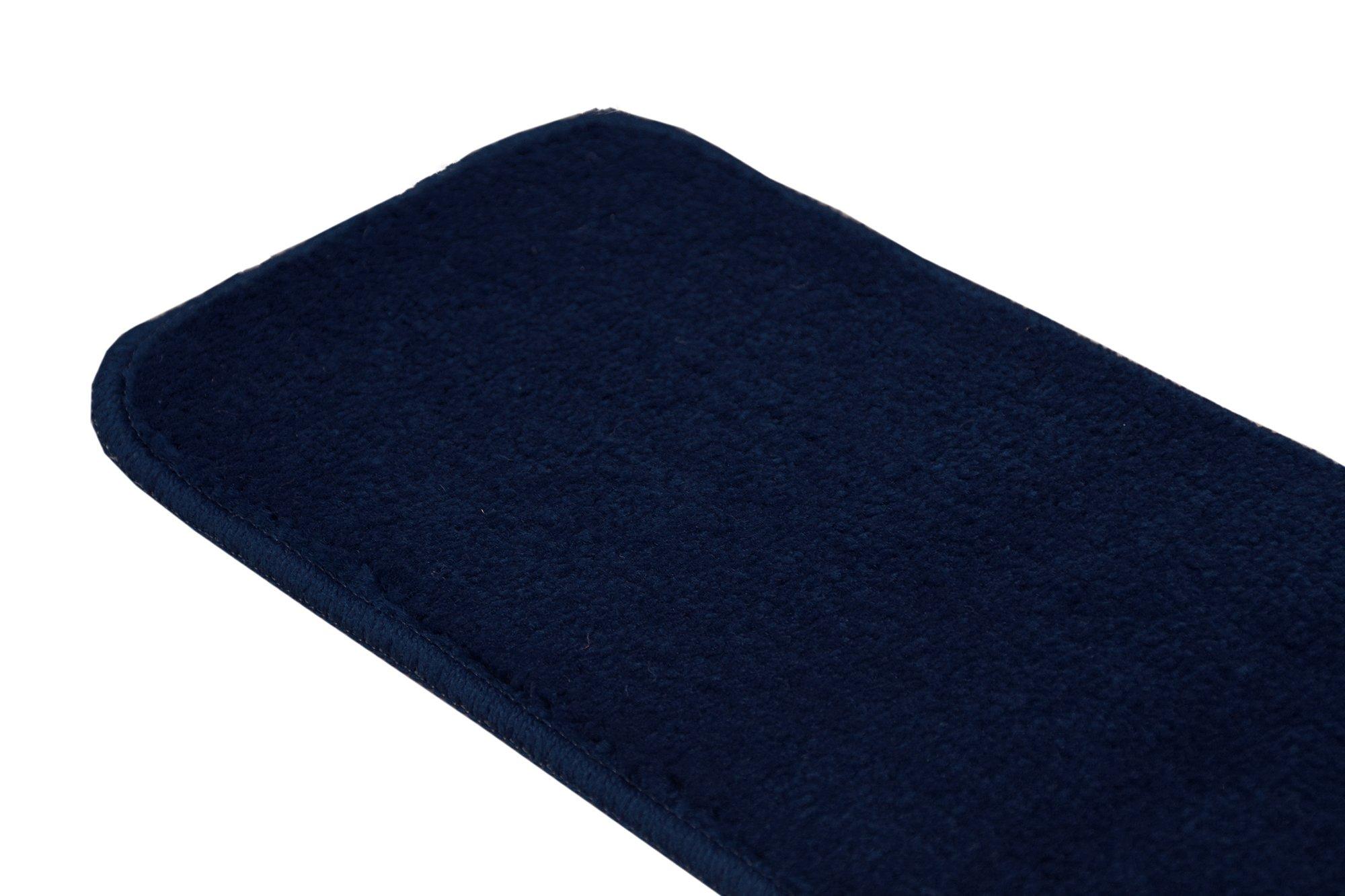 RugStylesOnline TRENDY-ST-8X30-NAVY-13 Trendy Stair Tread Treads Indoor Skid Slip Resistant Carpet Stair Tread Treads Machine Washable 8 ½'' W x 30'' L, Royal Navy Blue, Set of 13 by RugStylesOnline (Image #7)