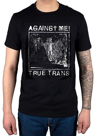baeb77b61fc Official Against Me True Trans T-Shirt Soul Rebel Rock Folk Punk Black   Amazon.co.uk  Clothing
