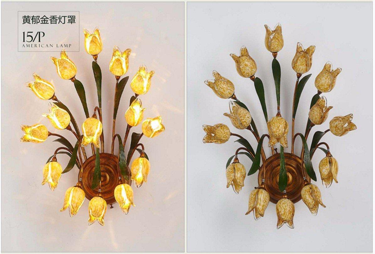 Amerikanisch-Europäischen-moderne, minimalistische Lampe Nachttischlampe Schlafzimmer Wohnzimmer Flur Chinesische kreative TV-Wand Lampen,16 Kopf
