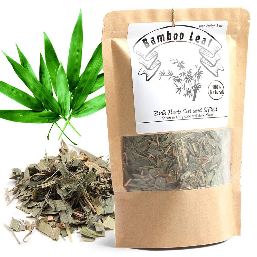 EidolonGreen [China Medicinal Herb] Bamboo leaves tea, Bamboo Tea, Organic Bamboo Leaf Tea, (Herba Lophatheri/DanZhuYe/???/?? ?? ?) Chinese Herbal Dried Loose Leaves 88g (3 oz)
