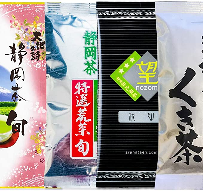 福袋 静岡産 大入り 茶葉 セット 深蒸し茶 詰め合わせ 飲み比べ 400g(静岡茶旬/ 特選荒茶旬/望銀印/がぶ飲みくき茶)緑茶 日本茶