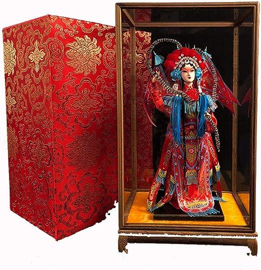 xutongrui Crafts El Estilo Chino Incluye Regalos en el Extranjero para Enviar a Extranjeros muñecos de la Ópera de Pekín Adornos de muñecas de la Ópera de Pekín Medio Mu Guiying (Rojo):