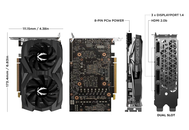 ZOTAC Gaming GeForce GTX 1660 6GB GDDR5 192-bit Gaming Graphics Card, Super Compact, ZT-T16600F-10L by ZOTAC (Image #2)