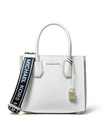 best choice modern techniques cute MICHAEL Michael Kors Mercer Medium Leather Logo Tape ...