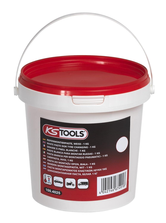 KS Tools 100.4025 cubo de grasa para neumá ticos, color blanco