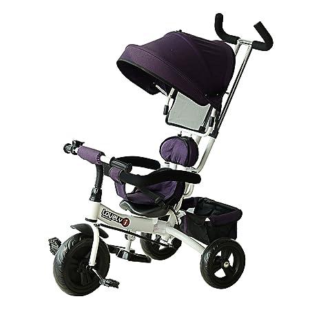 Homcom - Triciclo infantil evolutif cochecito parasol ...