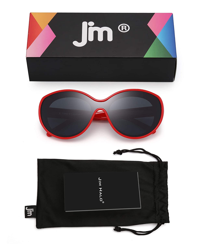JM Kids Shield Polarized Sunglasses Unbreakable Rubber Frame Girls Boys Age 3-6