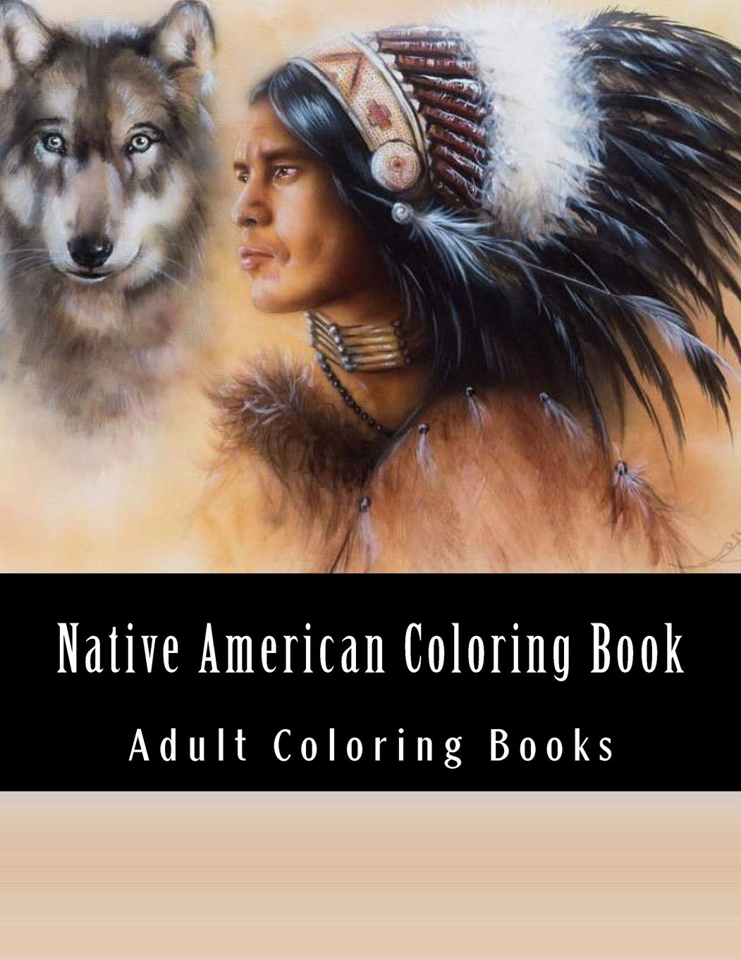 - Native American Coloring Book For Adults: Beautiful One Sided