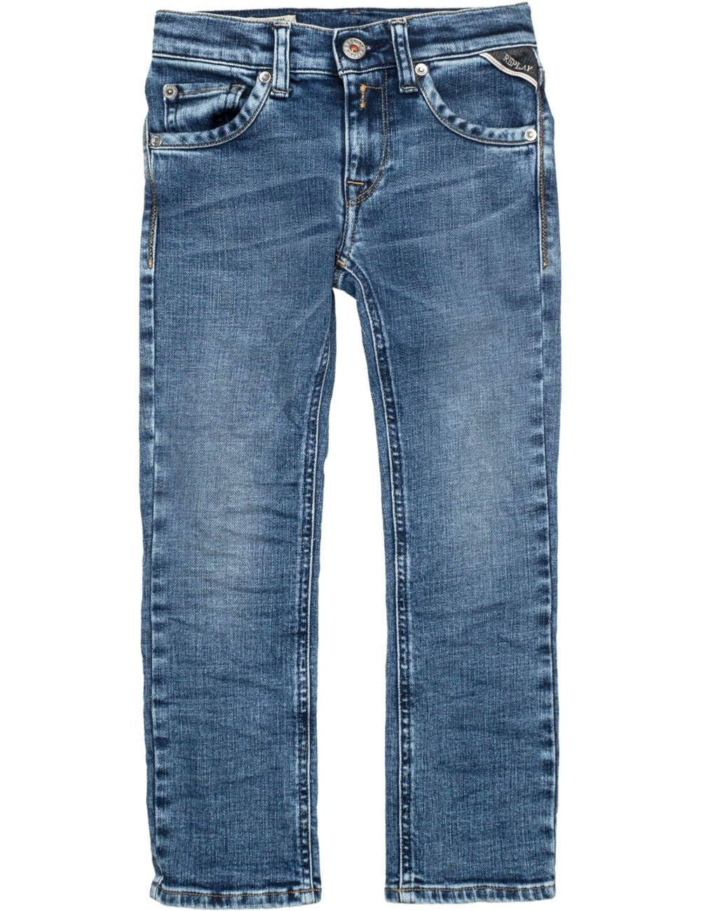 Replay Boys Blue Denim Trousers in Size 10 Years Blue by Replay