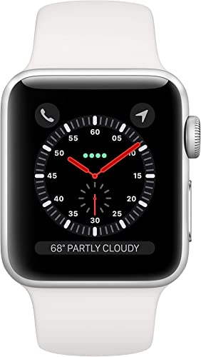 Apple Watch Series 3 GPS Cellular, 38mm – Silver Aluminium Case with White Sport Band