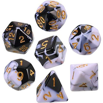 Amazon.com: Polyhedral - Juego de 7 dados para mazmorras y ...