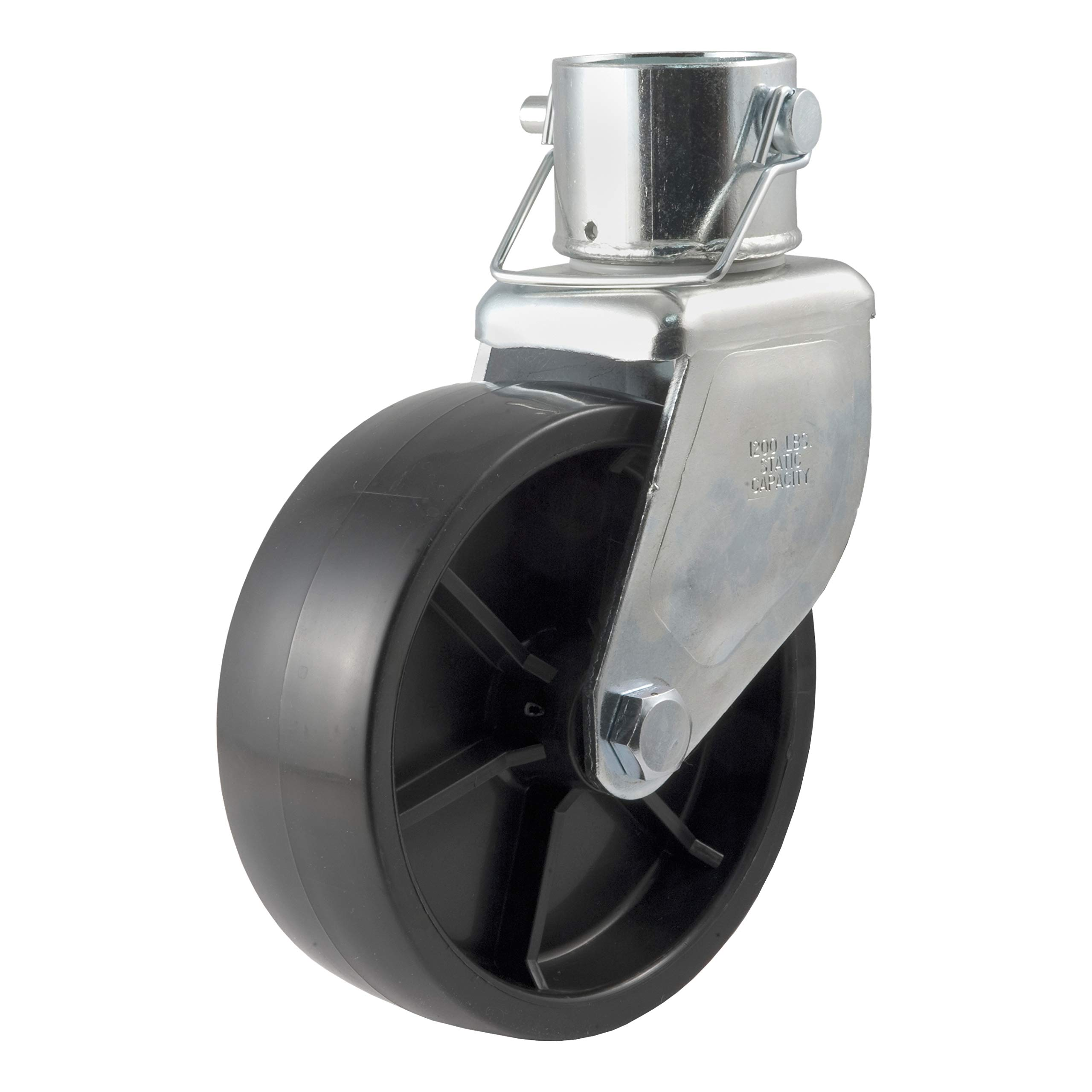 CURT 28276 6-Inch Caster Trailer Jack Wheel Replacement, Fits 2-Inch Tube, 1,200 lbs. by CURT