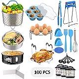 120 PCS Accessories Set for Instant Pot, Fungun Accessories Compatible with 5/6/8Qt Instant Pot, 100 Pcs Cake Baking Papers,