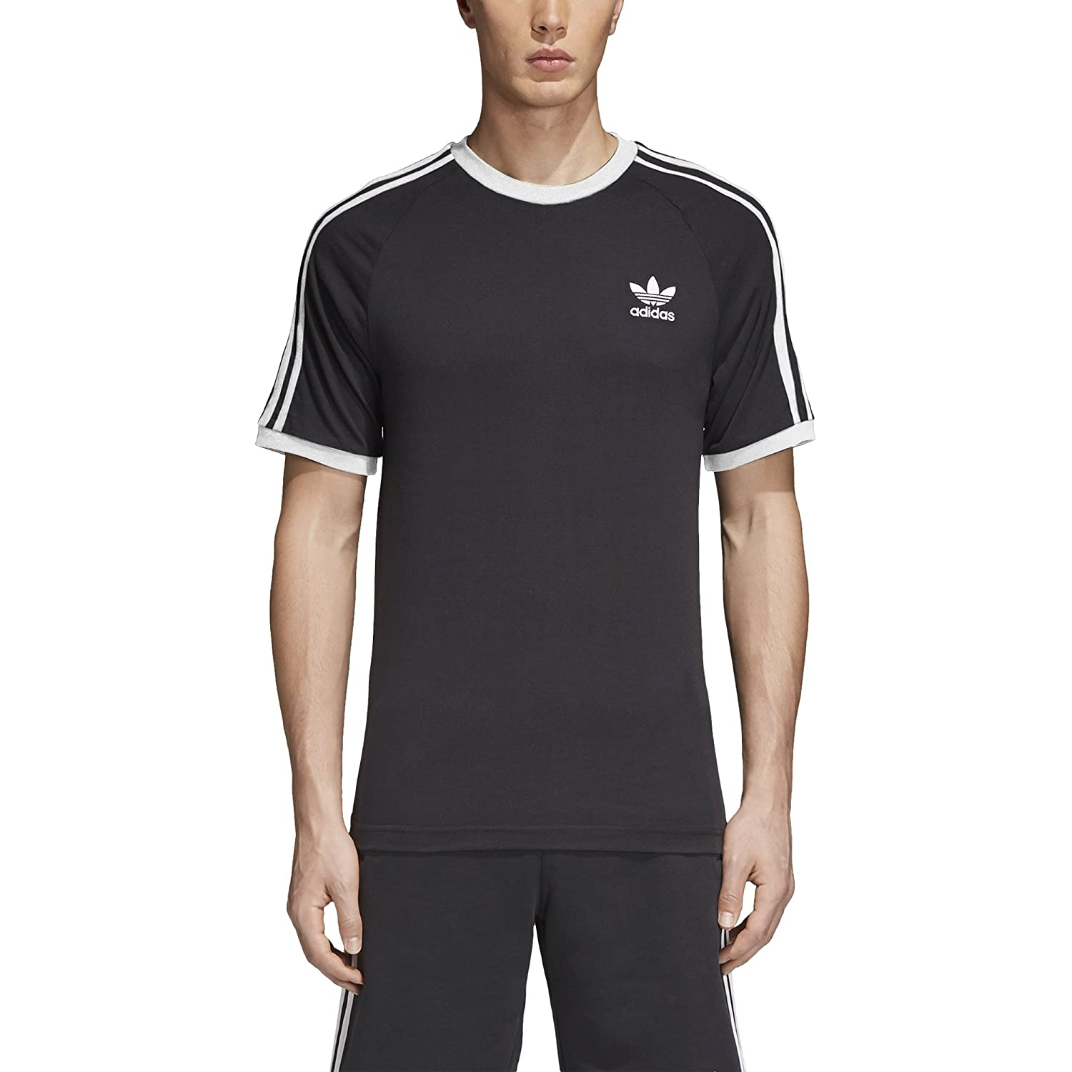 8efff25c adidas Originals Men's 3-Stripes Tee at Amazon Men's Clothing store:
