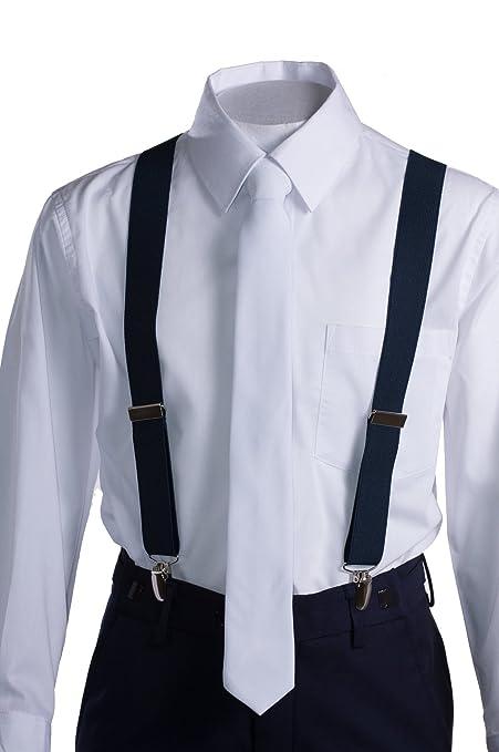 Amazon.com: Niños traje Slim Fit Comunión azul marino con ...