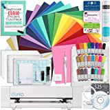 Silhouette Curio Starter Bundle with 24 Oracal 651 Sheets, Transfer Tape Roll, Guide, 24 Sketch Pens, Tools, and More
