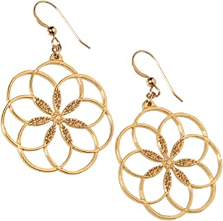 product image for 7 Rings of Peace Gold-dipped Earrings on French Hooks