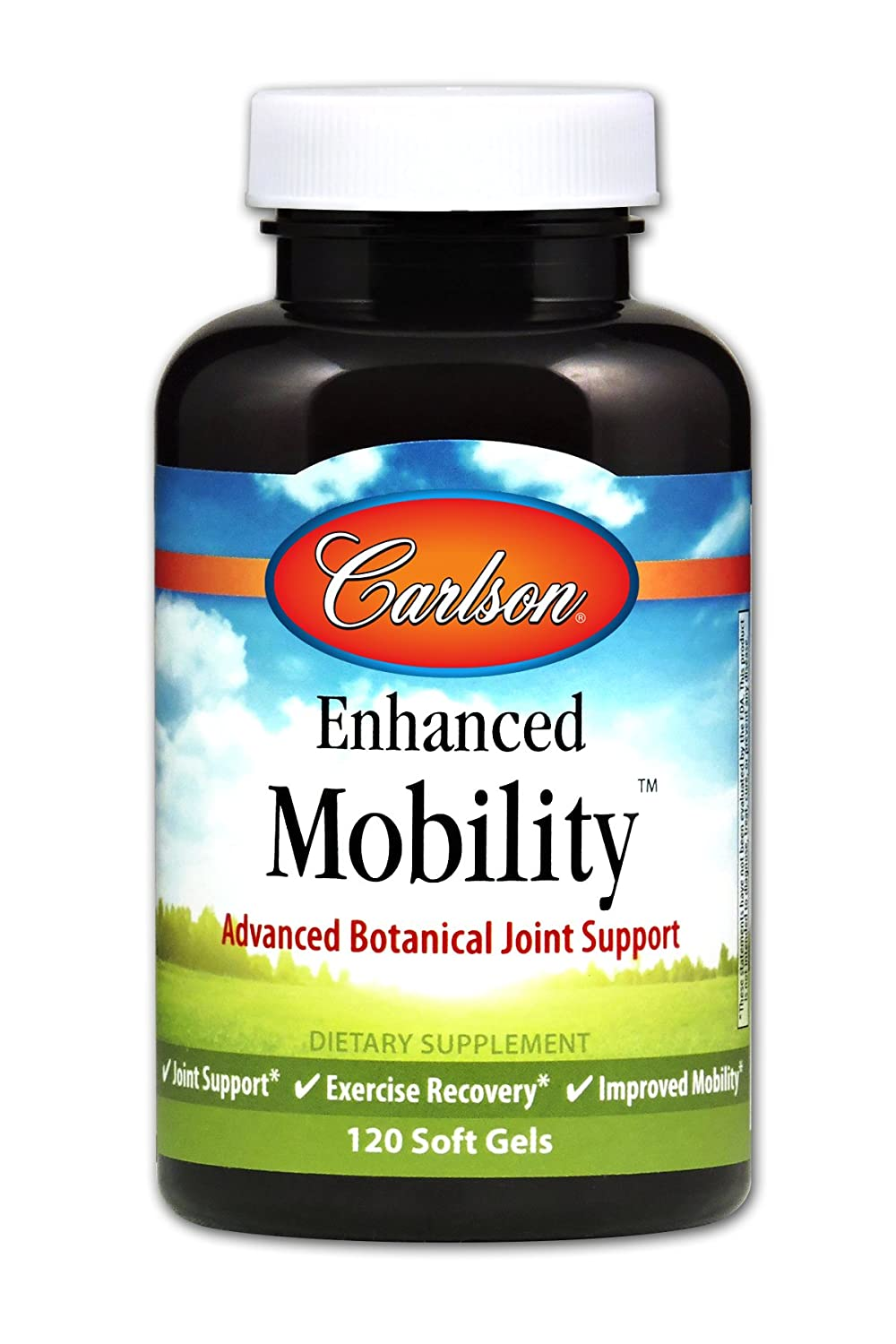 Carlson – Enhanced Mobility, Advanced Botanical Joint Support, Joint Support, Exercise Recovery Improved Mobility, 120 Soft gels