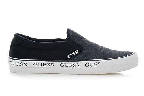 GUESS Zapatillas de Deslizador Para Hombre Navy: Amazon.es: Zapatos y complementos