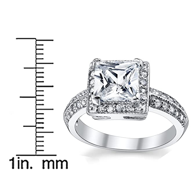 High Quality Cubic Zirconia Wedding Rings 36 Vintage Amazon Carat Princess Cut