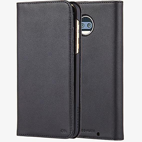 new styles 61845 d8dd4 Case-Mate Leather Wallet Folio Case for Motorola Moto Z2 Force Edition -  Black