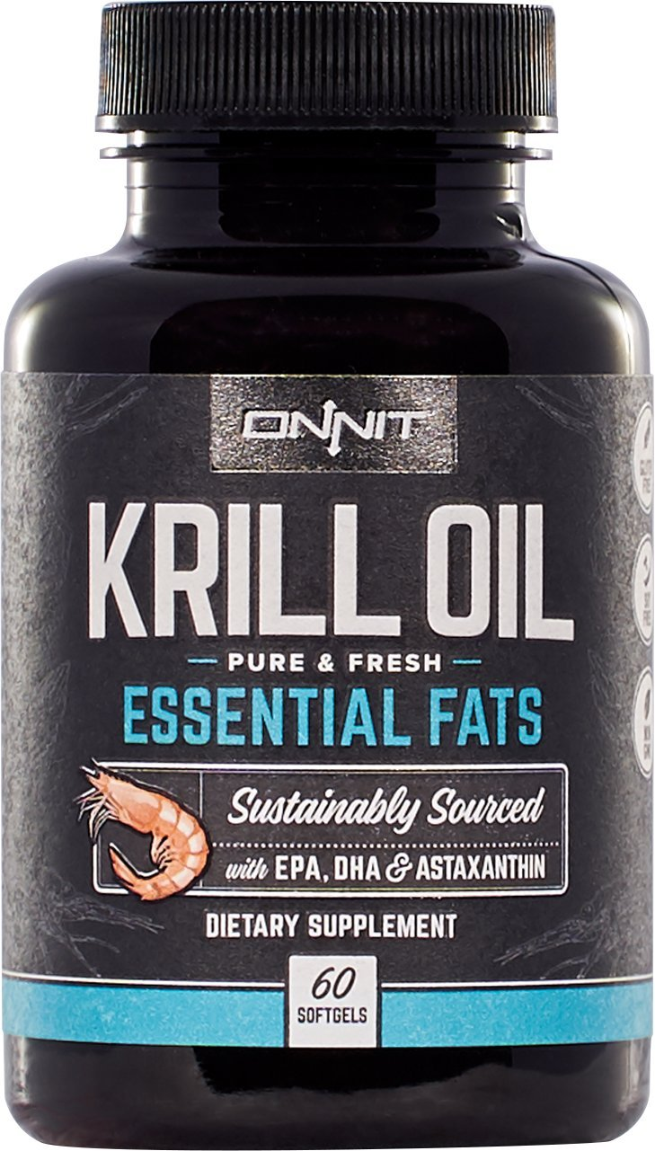 Onnit Krill Oil - 1000mg Extra Strength Antarctic Krill Oil with Omega 3 DHA & EPA, Astaxanthin & Essential Phospholipids (60ct)