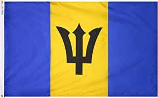 product image for Annin Flagmakers Model 190538 Barbados Flag 3x5 ft. Nylon SolarGuard Nyl-Glo 100% Made in USA to Official United Nations Design Specifications.
