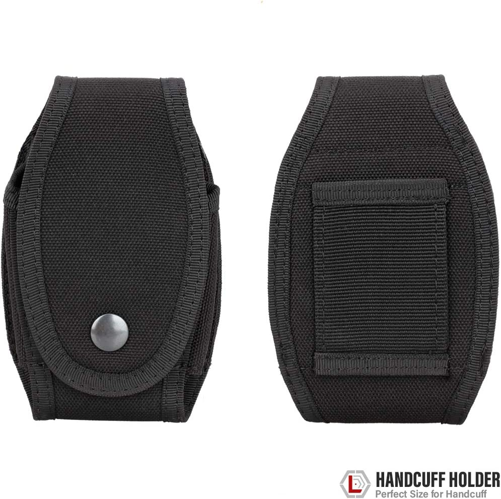 WYNEX Tactical Handcuff Pouch Case Handcuff Holder Cuff Holster with Quick Release Snap Closure for Law Enforcement Duty Belt Holds Most Chain or Hinged Cuffs
