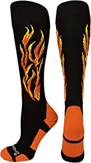 product image for MadSportsStuff Flame Soccer Style Over The Calf Athletic Socks (Multiple Colors)