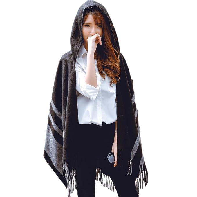 vendita usa online le più votate più recenti nuova collezione Donna Poncho Scialle con Cappuccio Cachemire Stampa Poncho ...