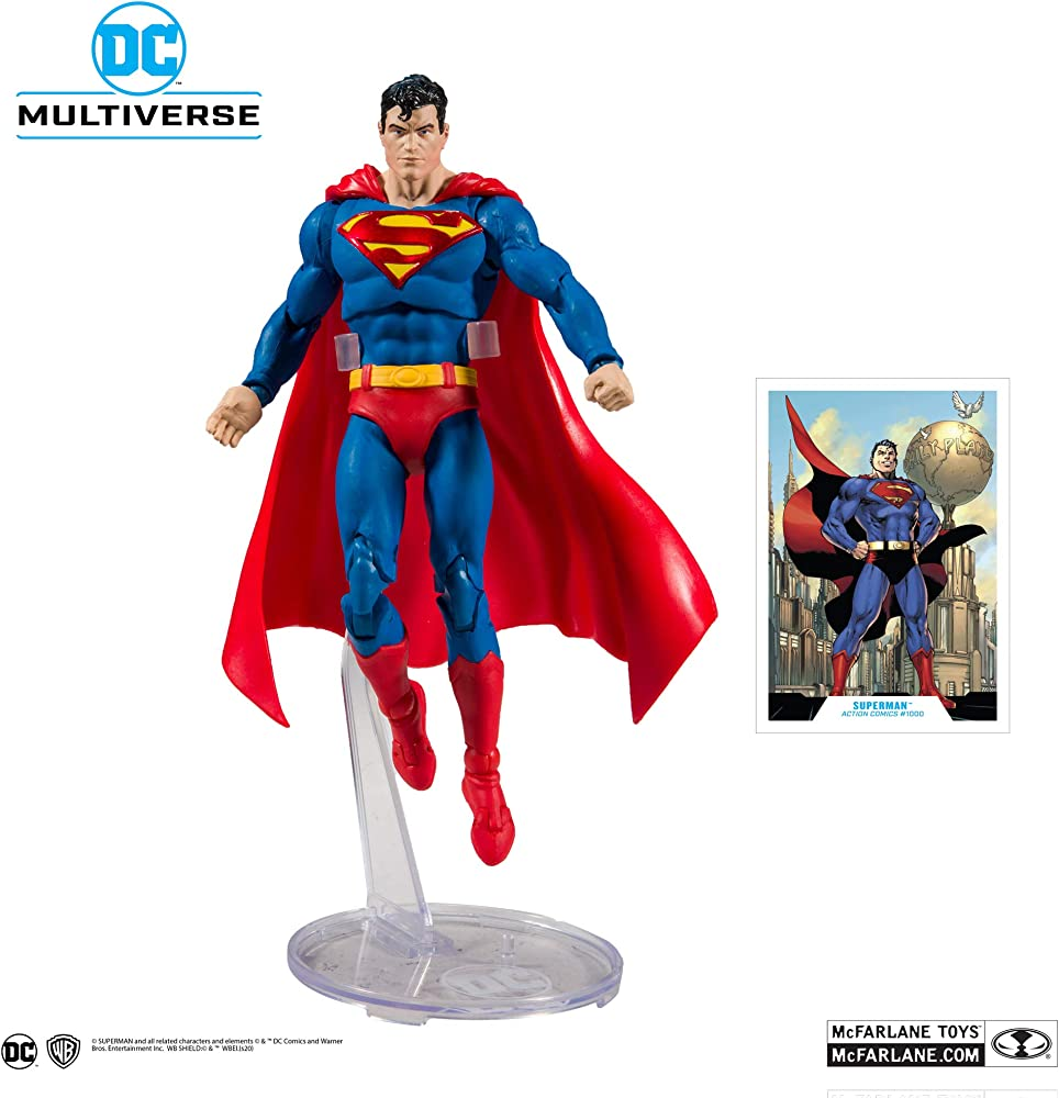 Statuetta di superman amazon - mcfarlane toys - action figure, 15002-5