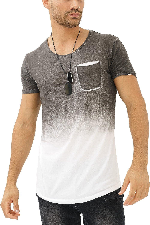 trueprodigy Casual Hombre Marca Camiseta con impresión Estampada Ropa Retro Vintage Rock Vestir Moda Cuello Redondo Manga Corta Slim Fit Designer Fashion T-Shirt