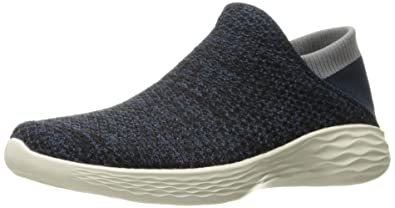 Skechers Womens You Movement Slipon Shoe      Navy      5
