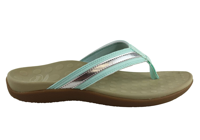 a58935260bde8e Scholl Orthaheel Tide II Womens Comfort Orthotic Flip Flop Thongs - Size   12 AUS or 43 EUR - Color  Light Blue Silver  Amazon.com.au  Fashion