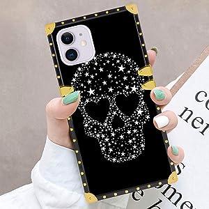 iPhone 11 Glitter Pentagram Skull Case (2019) 6.1in for Girls Women Teens
