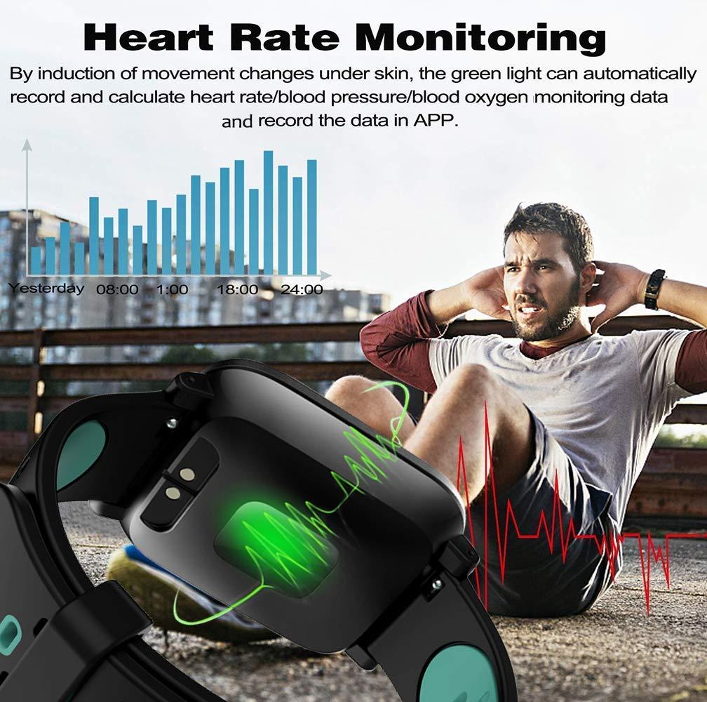 Fitness Tracker,Tracker dactivit/é avec /écran Couleur de 1,3 IP67 Etanche Bracelet Sport Podomtre Calorie Smartwatch avec Moniteur de fr/équence Cardiaque Sleep Monitor pour Enfants Femmes Hommes-38