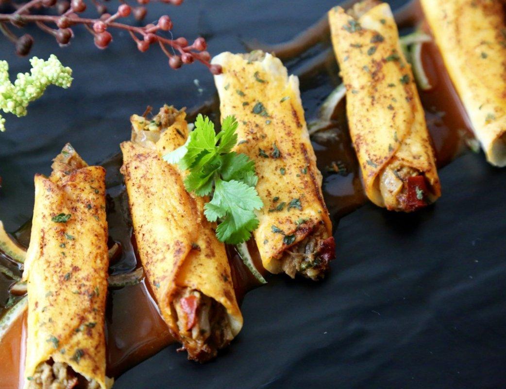 Beef Barbacoa Taquito - Gourmet Frozen Beef Appetizers (50 Piece Tray)