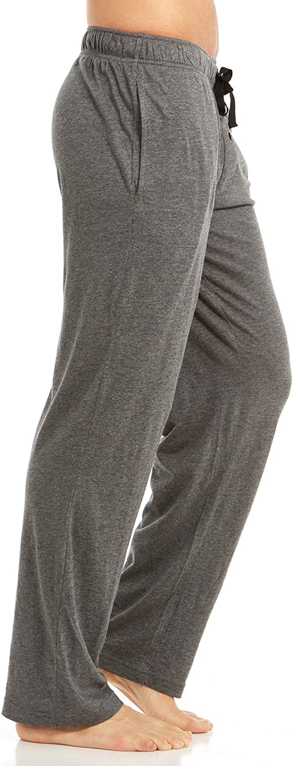 DARESAY Mens Jersey Cotton//Modal Knit Lounge Pajama Pants with Pockets Solid Colored Pants