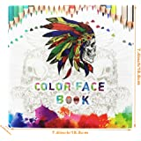 Adult Coloring Book:Face Book Designs For Relaxation, Fun and Stress Relief Use Colored Pencils (Perfect Gifts for Women) Paperback by US Sense