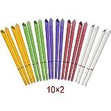 Incutex 20 candele orecchie candele auricolari hopi con colori e profumi diversi