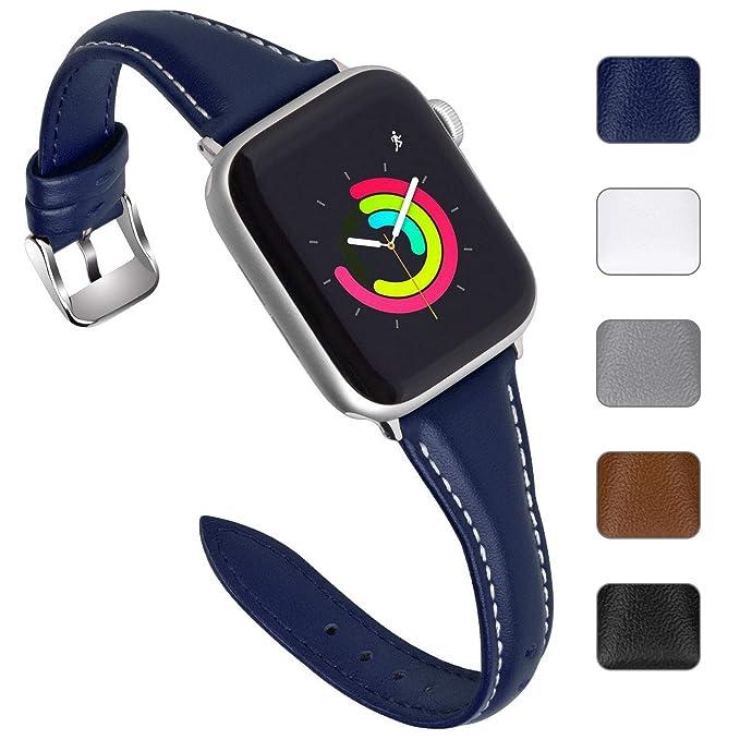 Correa Reloj de Compatible con Apple Watch de Piel Sliim ...