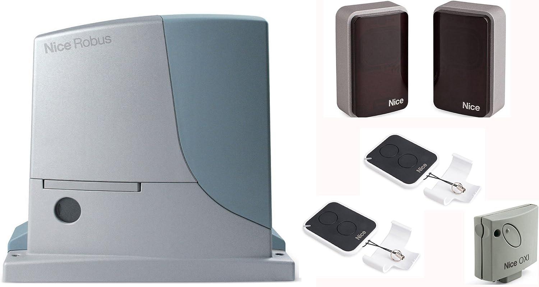 Puerta corredera nice ROBUS 600 eléctrico Kit de automatización con anti-crush: Amazon.es: Jardín