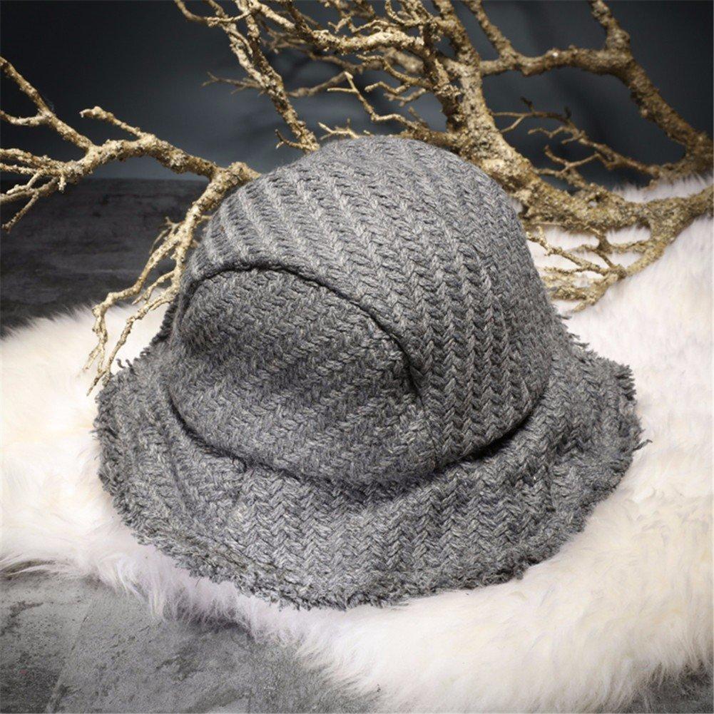 Vintage Moda Mujer Sombrero Sombrero pescador encantador Floppy Hat Hat cuchara caliente, gris