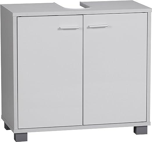 Wohnling Waschbeckenunterschrank Modern Mit 2 Turen Und Sockel