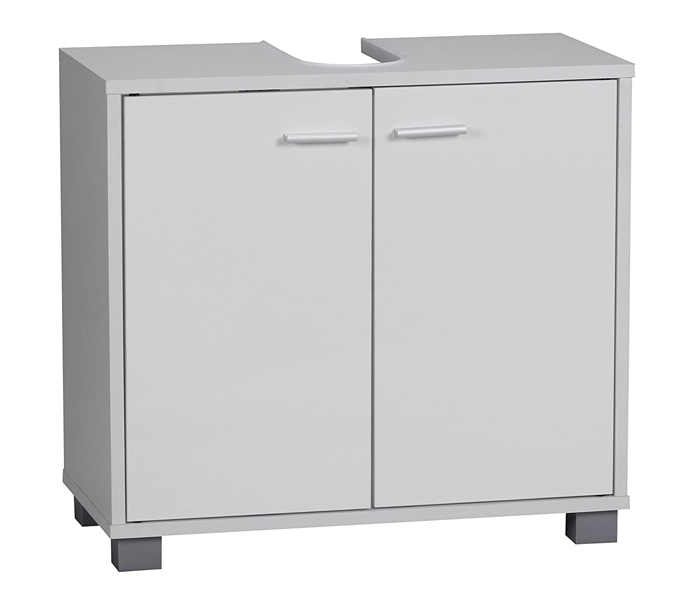 Wohnling Waschbeckenunterschrank Modern, mit 2 Türen und Sockel ...