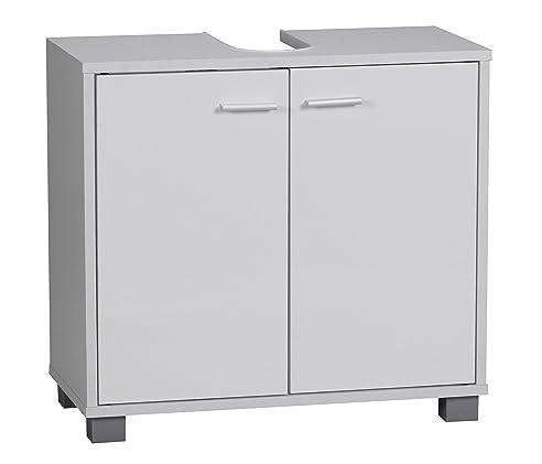 Wohnling Waschbeckenunterschrank Modern, Mit 2 Türen Und Sockel Unterschrank  Bad Für Unter Waschbecken Schrank 60