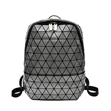 b1a6ec9833 Girls Boys Geometry Rhombus Backpack Magical Color Laser Package Suitable  For Daily Use